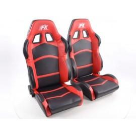 Sportseat Set Cyberstar artificial leather black/red /
