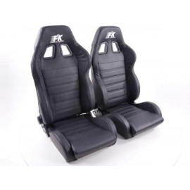 Sportseat Set Race 4 Real leather black