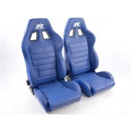 Sportseat Set Race 4 Real leather blue