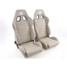 Sportseat Set Race 4 Real leather grey