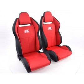 Sportseat Set Race 5 fabric red /black