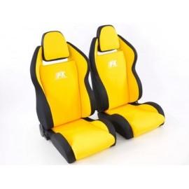 Sportseat Set Race 5 fabric yellow/black