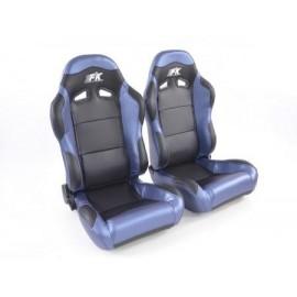 Sportseat Set Spacelook Carbon artificial leather black/blue