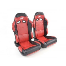 Sportseat Set Spacelook Carbon artificial leather red /black