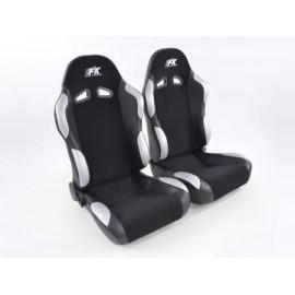 Sportseat Set Spacelook Carbon fabric black/grey