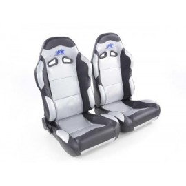 Sportseat Set Spacelook Carbon artificial leather silverblack