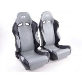 Sportseat Set Comfort artificial leather grey/black