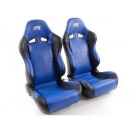 Sportseat Set Comfort artificial leather blue/black
