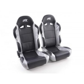 Sportseat Set Racing artificial leather black/grey