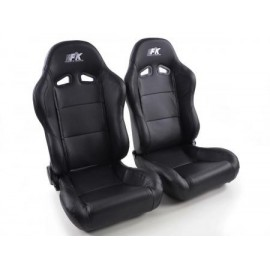 Sportseat Set Racing artificial leather black
