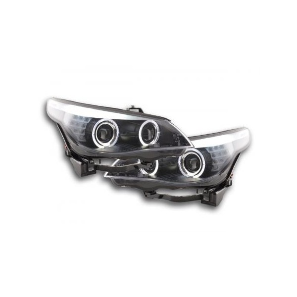 1c48202febb for Yr: 2005 to 2008- colour: black - E-mark - left + right (Set) - Angel  Eyes Headlights with illuminated LED Angel Eyes Xenon with LED turn signals  ...