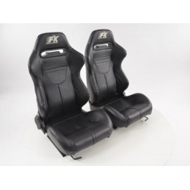 Sportseat Set Atlanta artificial leather black