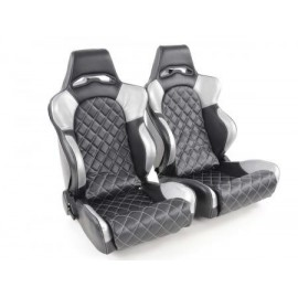 FK Sportseat Auto Half bucket seats Set Las Vegas in Motorsport-look