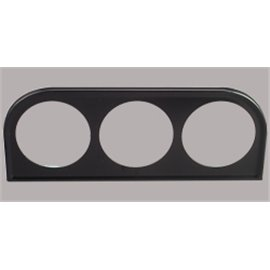 Gauge holder, 3 holes, black, in radio hole