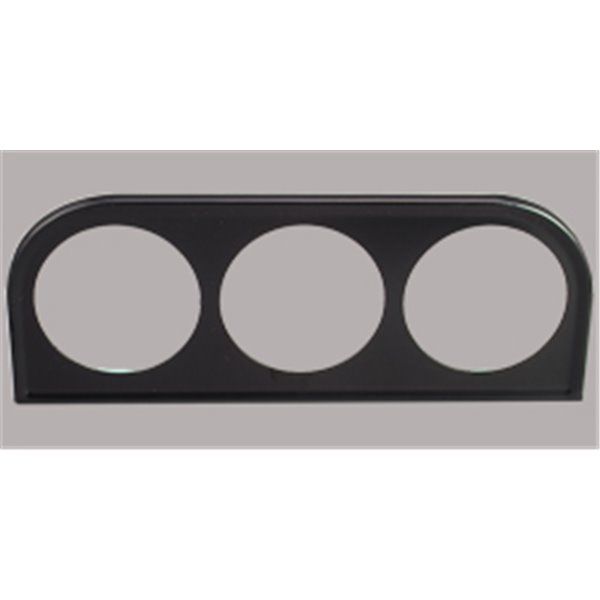 Gauge holder, 3 holes, black, in radio hole