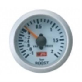 "Boost gauge 2 bar ""silver"""