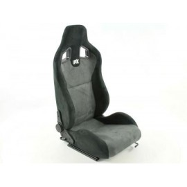 Sportseat Set Columbus artificial leather Grey/black