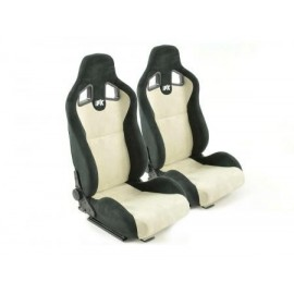Sportseat Set Columbus artificial leather beige/black