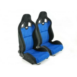 Sportseat Set Columbus artificial leather Blue/black