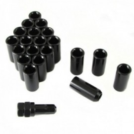 Japan Racing set of BLACK LONG imbus lug nuts 12x1,5 + Key
