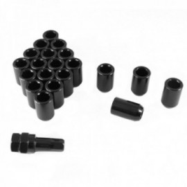 Japan Racing set of BLACK imbus lug nuts 12x1,5 + Key
