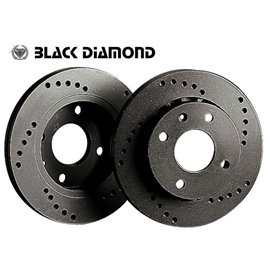 """Daihatsu Charade  (03 -) 1.0  (Vented disc, 13"""" wheels) 989cc 03 - Front-Vented  Cross drilled"""