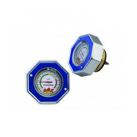 MR Gasket radiator cap with gauge 16psi BLUE
