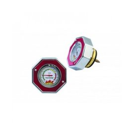 MR Gasket radiator cap with gauge 16psi RED