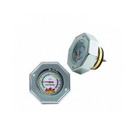 MR Gasket radiator cap with gauge 16psi SILVER