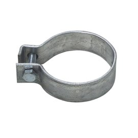 "Galvanized Ring clamp 48 mm 1 3/4"" sleeve."