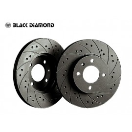 """Daihatsu Charade  (03 -) 1.0  (Vented disc, 13"""" wheels) 989cc 03 - Front-Vented  Combi drilled / slotted"""