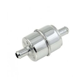 "Mr. Gasket fuel filter for 1/2"" hose chrome"