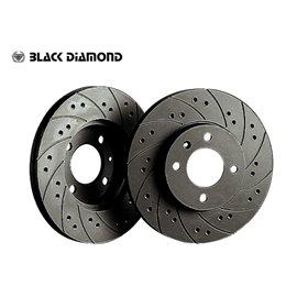 Z33 BLACK DIAMOND X-Drilled Front Brake Discs for NISSAN 350 Z 3.5 V6 24v 02