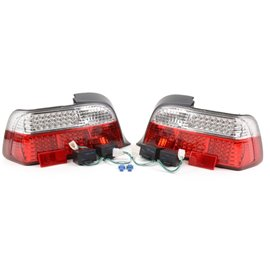 DEPO BMW E36 2D 91-00 LED Red/Clear Tail Light Set