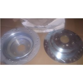 R1 Concepts Subaru SVX rear brake disc 1992,1993,1994,1995,1996,1997 DRILLED PAIR