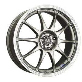 Enkei Performance series J10 18x7.5 PCD 4x100 ja 4x114,3 Offset/Et 42 Silver, polished lip