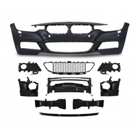 BMW 3er F30 ( LCI ) year 05.2015- Front bumper in sports-design with PDC holes and HCS