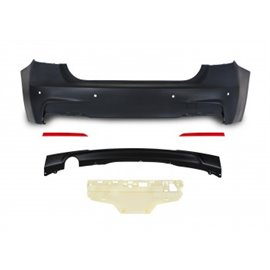 BMW 3er F30 year 10.2011- Rear bumper in sports-design with PDC holes