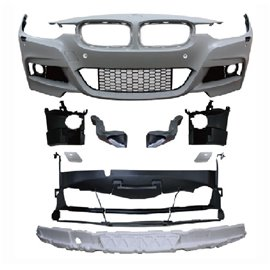 BMW 3er F30 Limousine year 10.2011 - Front bumper in sports design with PDC holes and HCS