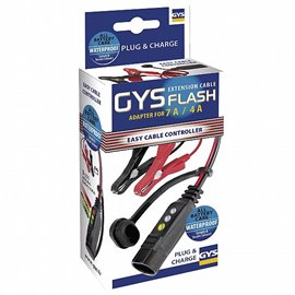 GYSFLASH-CABLE WITH CHARGE STATE & CLAMPS FOR GYSFLASH 1 TO 7 GYS