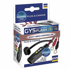 GYSFLASH-CABLE WITH CHARGE STATE & M6 EYELET FOR GYSFLASH 1 TO 7 GYS