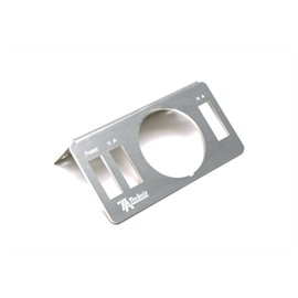TA Technix / Viair pressure display holder / frame alu brushed / 90?? angled