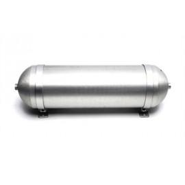 TA Technix seamless air tank 11 liters / air tank aluminium brushed  tank dimensions in mm (LxWxH) 650 x 170 x 170/190 with brac