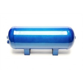 TA Technix air tank 11,5 liters / 3 gallons / air tank blue with carbon verneered  tank dimensions in mm (LxWxH) 460 x 165 x 205