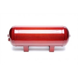 TA Technix air tank 11,5 liters / 3 gallons / air tank red with carbon verneered  tank dimensions in mm (LxWxH) 460 x 165 x 205