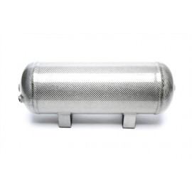TA Technix air tank 11,5 liters / 3 gallons / air tank silver with carbon verneered  tank dimensions in mm (LxWxH) 460 x 165 x 2