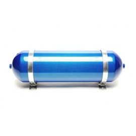 TA Technix seamless air tank 11 liters / air tank blue with carbon verneered  tank dimensions in mm (LxWxH) 650 x 170 x 170/190