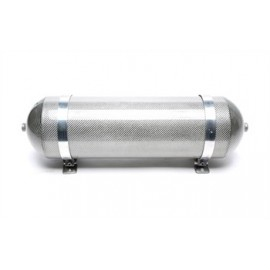 TA Technix seamless air tank 11 liters / air tank silver with carbon verneered  tank dimensions in mm (LxWxH) 650 x 170 x 170/19