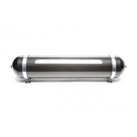 TA Technix seamless air tank 19 liters / air tank black with carbon verneered  tank dimensions in mm (LxWxH) 850 x 170 x 170/190