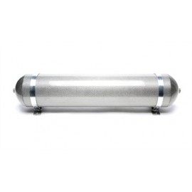 TA Technix seamless air tank 19 liters / air tank silver with carbon verneered  tank dimensions in mm (LxWxH) 850 x 170 x 170/19